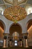 Candeliere in Sheikh Zayed Grand Mosque, Abu Dhabi, UAE Fotografia Stock