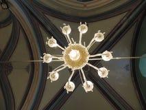 Candeliere sul soffitto della caverna dei patriarchi, Gerusalemme Fotografia Stock Libera da Diritti