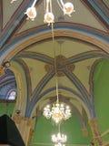 Candeliere sul soffitto della caverna dei patriarchi, Gerusalemme Immagine Stock
