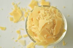 Candelilla wax - cosmetic grade plant wax. For lipsticks, salves, lip balms, cream, and ointments stock photos