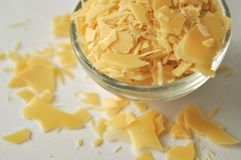 Candelilla wax - cosmetic grade plant wax. For lipsticks, salves, lip balms, cream, and ointments royalty free stock image