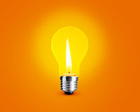 Candellight in bulb Stock Photography