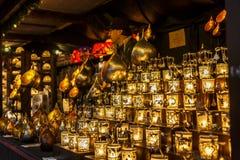 Candels在圣诞节市场上,伦敦,英国,英国,欧洲 图库摄影