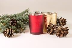 Candels и рождественская елка стоковая фотография rf
