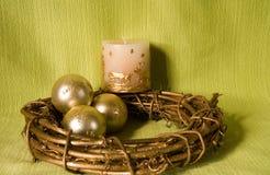 candels bożych narodzeń dekoracja Zdjęcia Stock