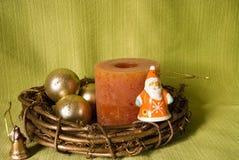 candels bożych narodzeń dekoracja Zdjęcie Stock