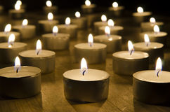 Candels burning in the night. S Royalty Free Stock Image