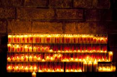 Candels in a Church Stock Photos
