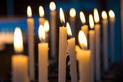 Candels in the church Royalty Free Stock Image