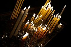 Candels in orthodox church Stock Image