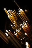 Candels in orthodox church Royalty Free Stock Photo