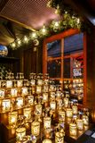 Candels på jul marknadsför fotografering för bildbyråer