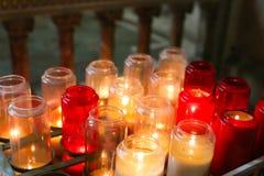Candels in Sacre Coeur Basilica,Paris Stock Photos