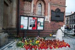 Candels voor Kaczynski Stock Afbeelding