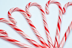 Candey canes. Close up of candy canes , soft focus Stock Image