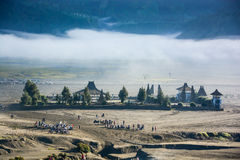 Candi Bentar temple from crater of mount Bromo Royalty Free Stock Photography
