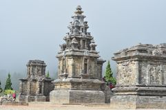 Candi dieng wonosobo. A temple located in central java wonosobo indonesia, the temple looks beautiful because the position on the canti is located on top of the Stock Images