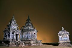 Candi III in Candi Gedong Songo, Java centrale, Indonesia Immagine Stock