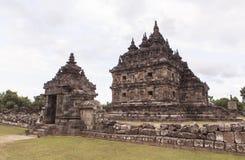 Candi Plaosan在日惹,印度尼西亚 库存照片
