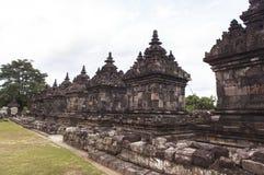 Candi Plaosan在日惹,印度尼西亚 库存图片