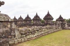 Candi Plaosan在日惹,印度尼西亚 免版税库存图片