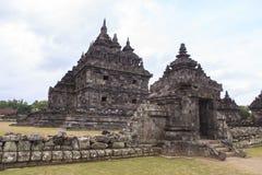 Candi Plaosan在日惹,印度尼西亚 免版税库存照片