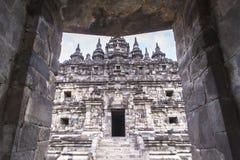 Candi Plaosan à Yogyakarta, Indonésie Photographie stock libre de droits
