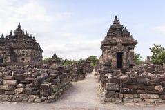 Candi Plaosan à Yogyakarta, Indonésie Image libre de droits