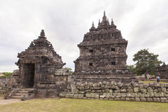 Candi Plaosan à Yogyakarta, Indonésie Photos stock