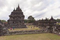 Candi Plaosan à Yogyakarta, Indonésie Images stock