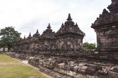 Candi Plaosan à Yogyakarta, Indonésie Image stock