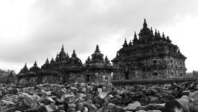 Candi Plaosan, een historische boeddhistische tempel in Java Stock Afbeelding
