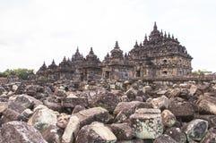 Candi Plaosan em Yogyakarta, Indonésia Imagens de Stock