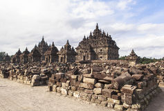 Candi Plaosan em Yogyakarta, Indonésia Fotos de Stock