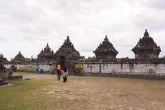 Candi Plaosan em Yogyakarta, Indonésia Foto de Stock Royalty Free