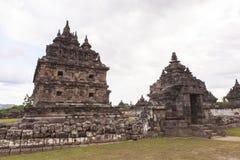 Candi Plaosan em Yogyakarta, Indonésia Fotos de Stock Royalty Free