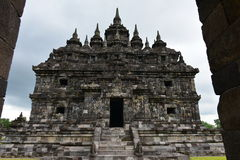 Candi Plaosan historic buddhist temple Royalty Free Stock Images