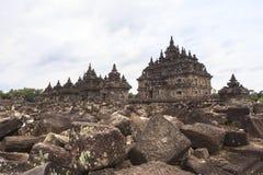 Candi Plaosan i Yogyakarta, Indonesien Arkivbilder
