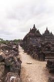 Candi Plaosan a Yogyakarta, Indonesia Immagini Stock