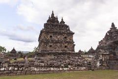 Candi Plaosan a Yogyakarta, Indonesia Fotografia Stock Libera da Diritti