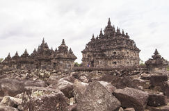 Candi Plaosan in Yogyakarta, Indonesien Stockbild