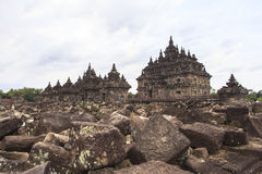 Candi Plaosan in Yogyakarta, Indonesien Stockbilder