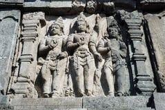 Candi Prambanan - Hindoese tempelsamenstelling - Java Stock Afbeelding
