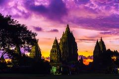 Candi Prambanan Hindu Temple, Yogyakarta, Jawa, Indonesia fotografia stock libera da diritti