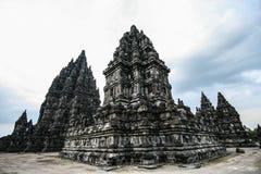 Candi Prambanan i centrala Java Royaltyfria Bilder