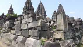 Candi Prambanan o Candi Rara Jonggrang es un compuesto del siglo IX del templo hindú en centavo metrajes