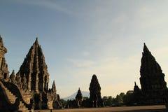Candi Prambanan por la mañana Imagen de archivo libre de regalías