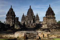The Candi Sewu. Sewu Temple, located on the Central Java, is the third largest temple complex in Indonesia Stock Photography