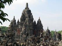 Candi Sewu & x28; Prambanan tempelkomplex & x29; arkivbild