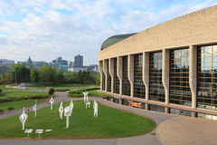 Candian Museum of History in a spring morning. Canadian Museum of History in a spring morning Royalty Free Stock Image